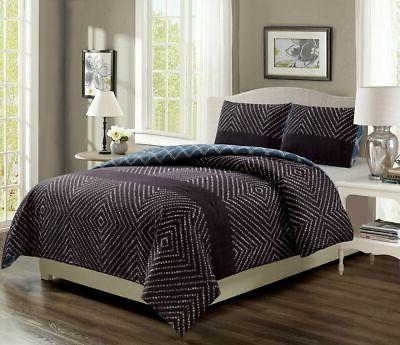 canaveral navy reversible comforter set