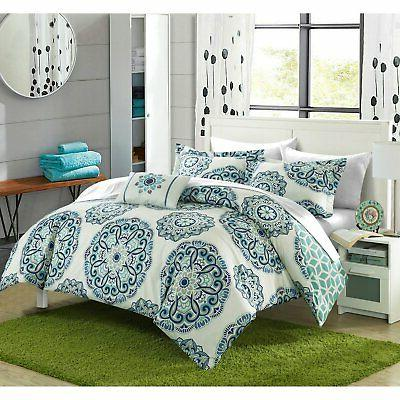 catalonia medallion reversible 8 piece bed in