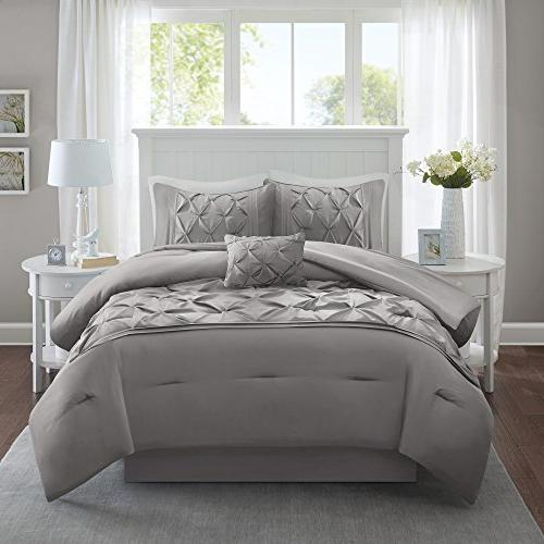 Comfort Spaces Comforter Piece Tufted Pattern – – Size, 1 Comforter, 2 Shams, Pillow, 1 Bed Skirt