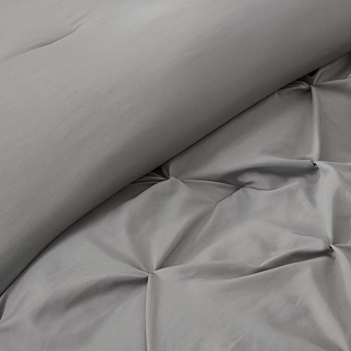 Comfort Spaces Comforter 5 Piece Tufted – King Size, Includes 2 Shams,