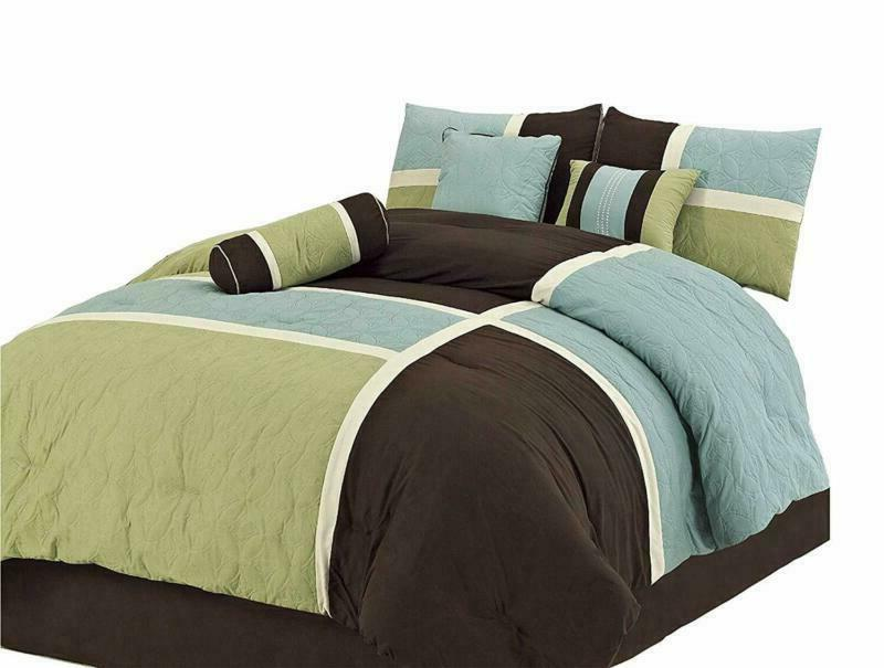 chezmoi collection 7 piece quilted patchwork comforter
