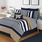 IZOD Classic Stripe Set Comforter, Bed Skirt, Standard Shams