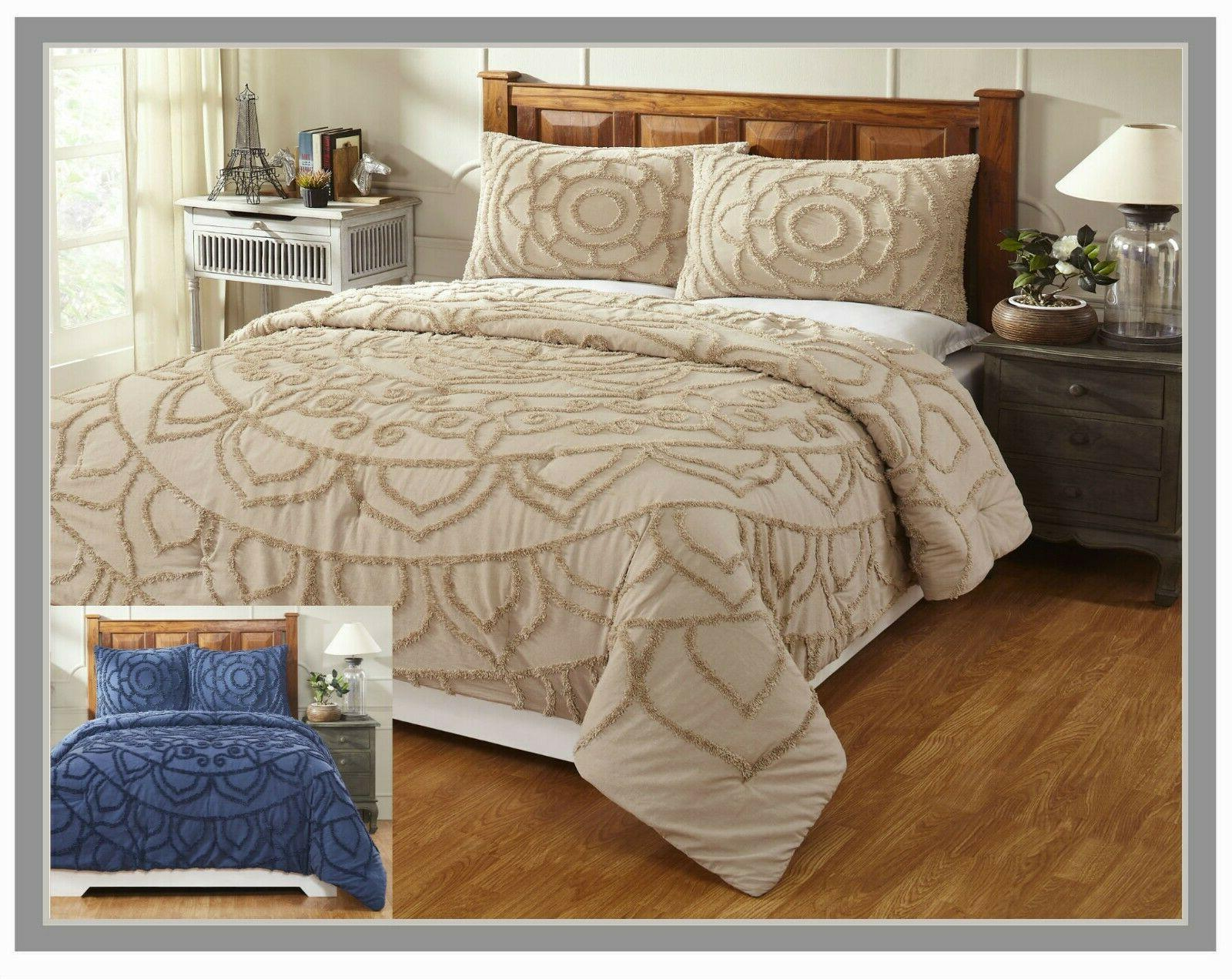 cleo collection 100 percent cotton chenille comforter