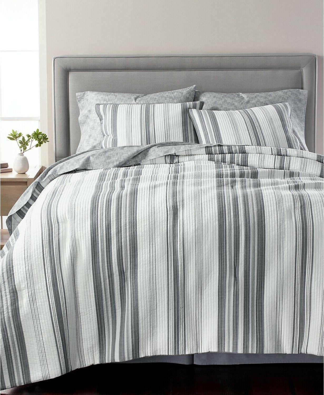 collection ridge stripe cotton 8 pc comforter