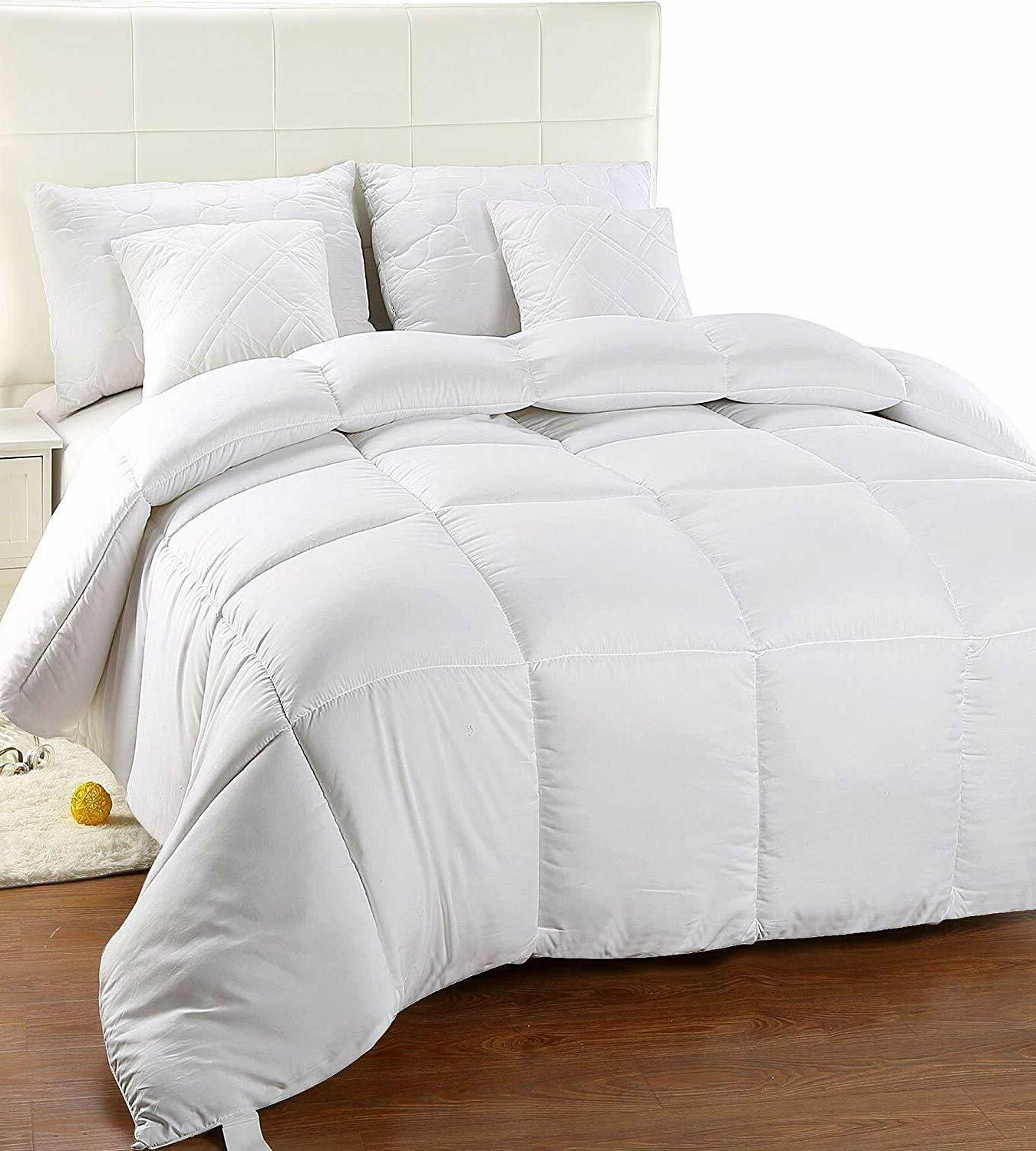Utopia Bedding Down Alternative Comforter-White, Queen-All S