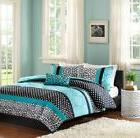 Comforter Set For Teen Boy Girl Twin Teal Blue Black Animal