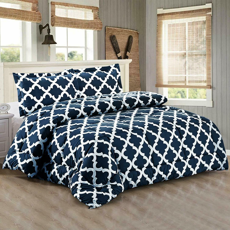Utopia Bedding Printed Queen  Goose Down Alternative Comfort