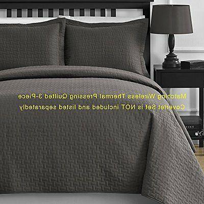 Comfy Bedding Frame Microfiber Queen 5-piece Set, Gray