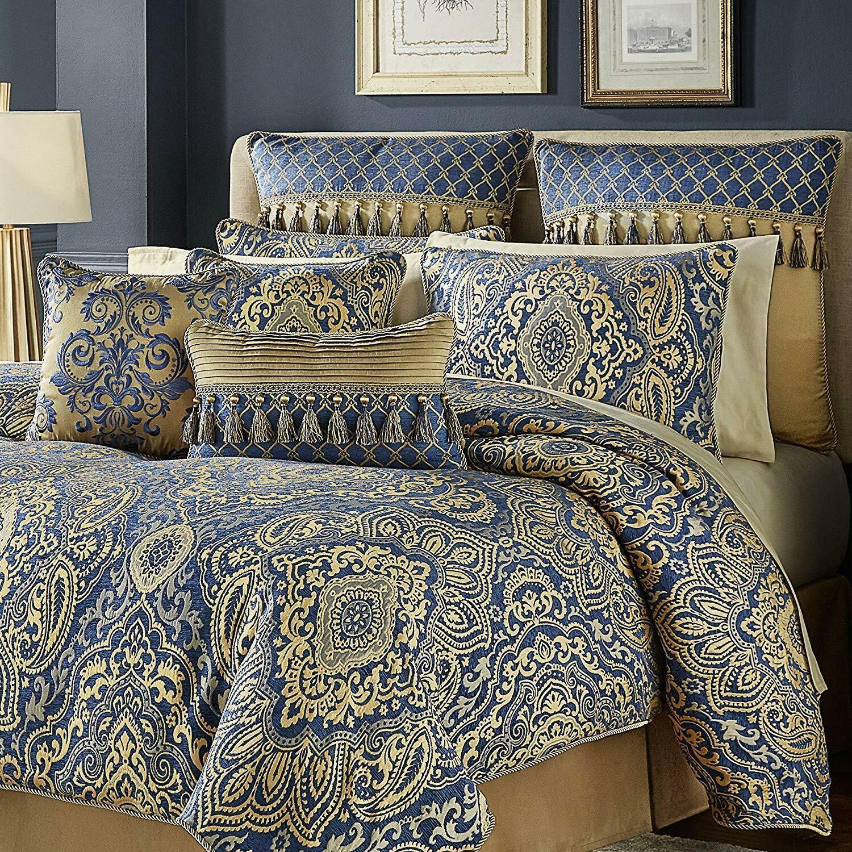 croscill allyce comforter set king blue