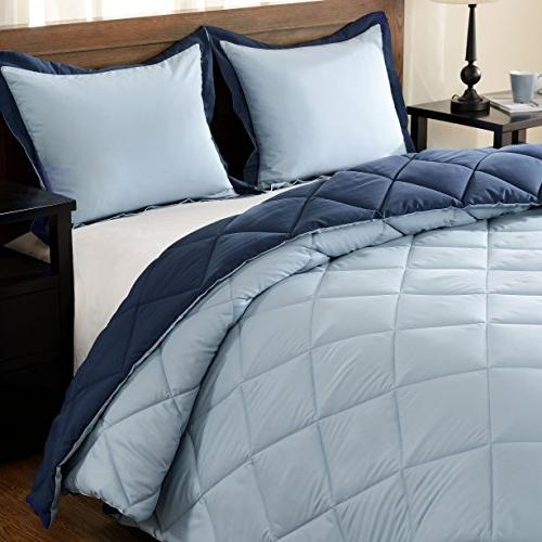 downluxe Lightweight Set with 2 Shams - - Blue - Down