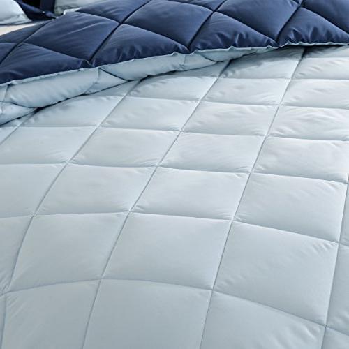 downluxe Lightweight Comforter Set with Shams - - - Reversible