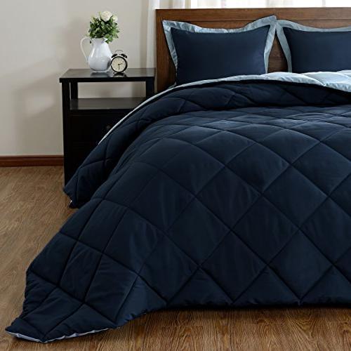 downluxe Lightweight Set Pillow Shams 3-Piece Set - Down Reversible