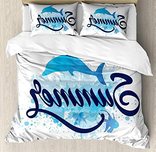 dolphin queen bedding duvet cover