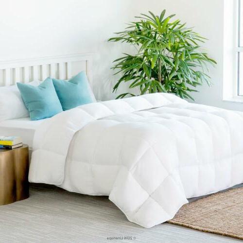 White Goose Down Alternative Comforter Duvet Cover Insert Qu