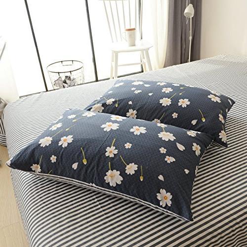 Duvet 3 100% Cotton Bedding Closure Cover Set
