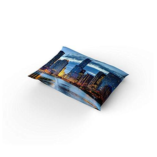 Clouday 4 Piece Sets City Chicago Bed Flat 1 Duvet Cover Cases