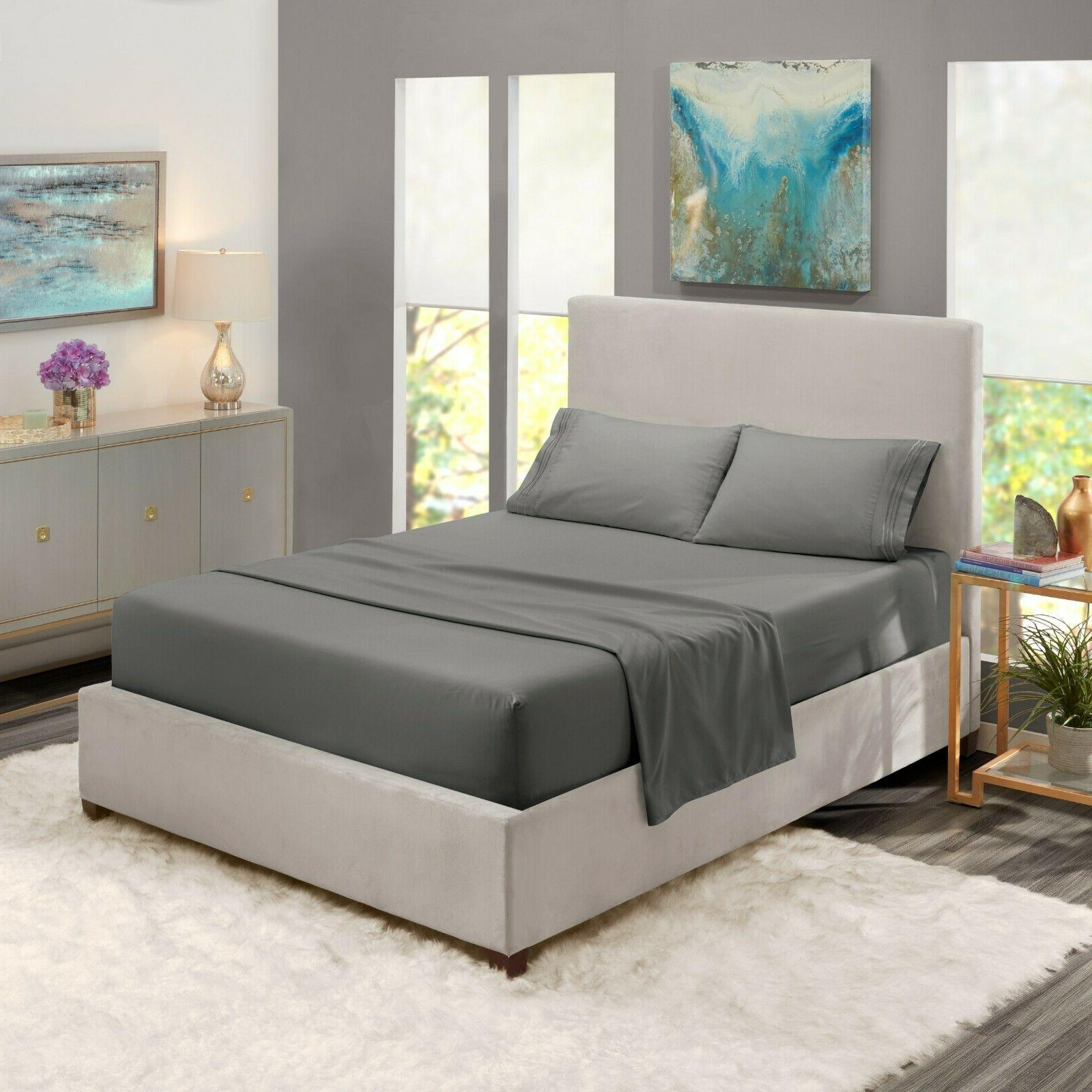 Egyptian Comfort 4 Bed Set Pocket Bed Sheets