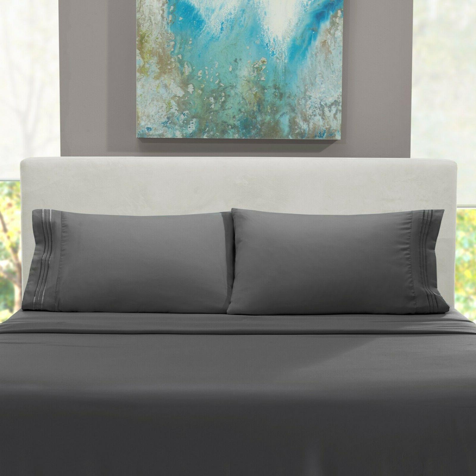 Egyptian Comfort 4 Set Deep Bed Sheets