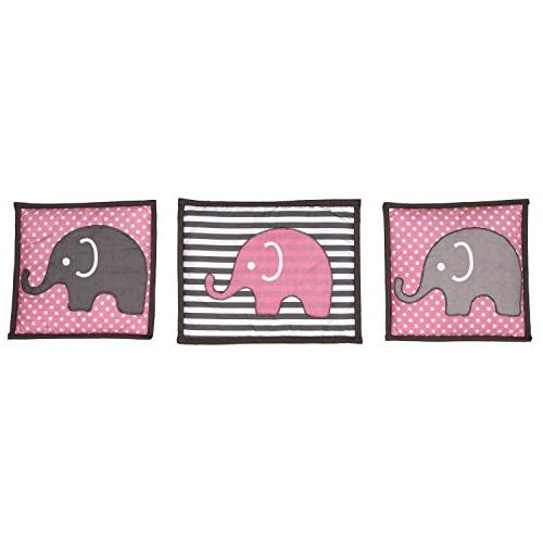 Elephants crib set including Pad