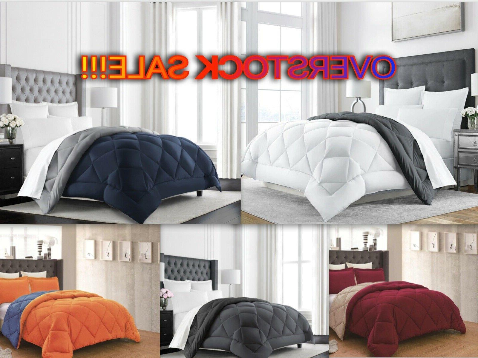 empire home goose down alternative reversible comforter