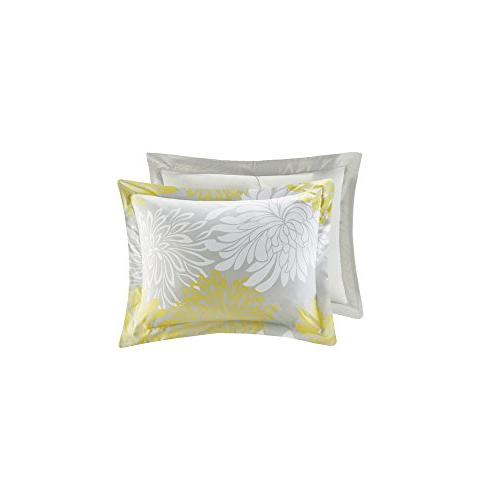 Comfort Comforter 5 Piece Yellow, – Floral – King Includes Comforter, 2 Decorative Bed Skirt