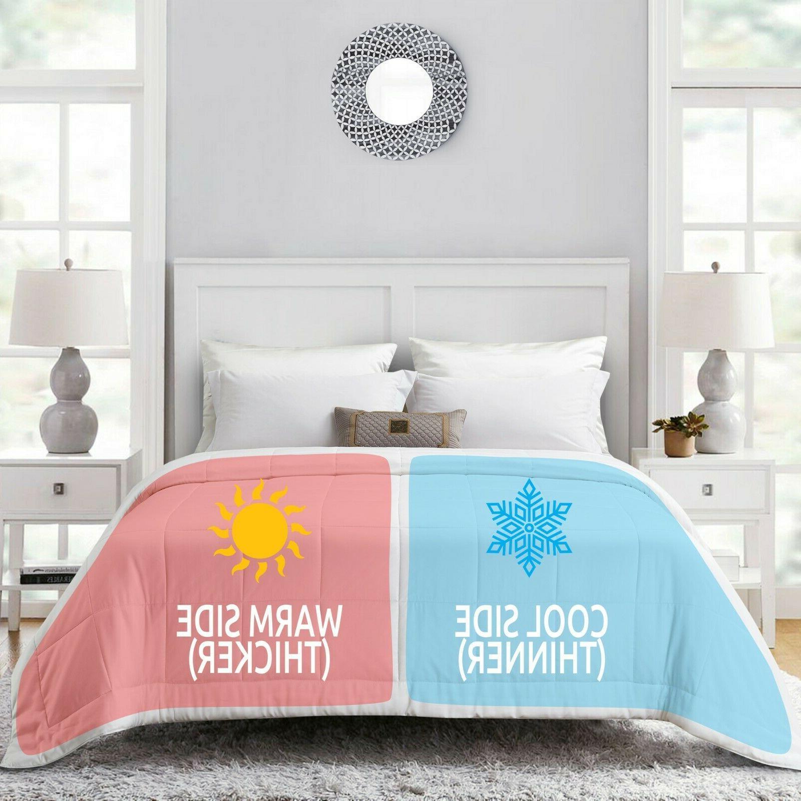 eucalyptus comforter for couples dual thickness duvet