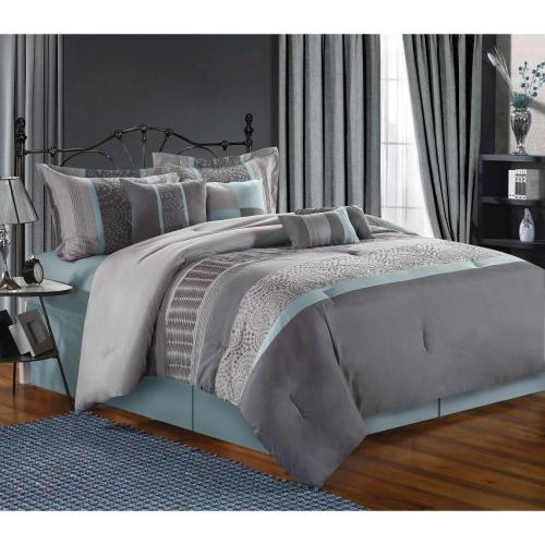 Chic Embroidered Comforter Set,