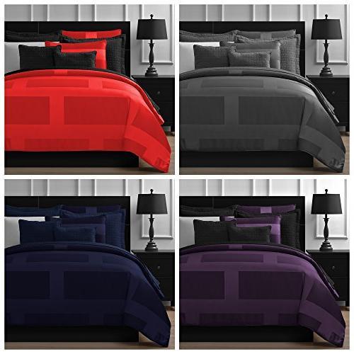 Comfy Bedding Frame Microfiber Set, Red