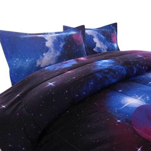 Galaxy Comforter Quilt Sky Bedding Sets Twin/Full