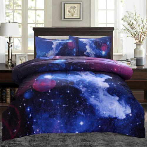 galaxy comforter set reversible quilt sky outer