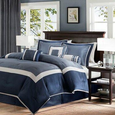 genevieve comforter set navy queen