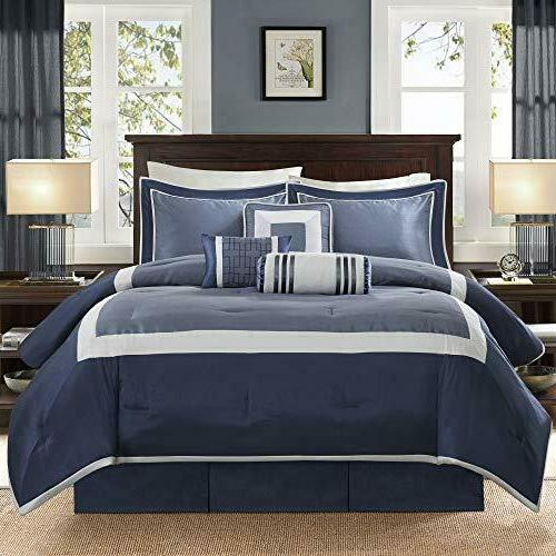 Madison Park Genevieve Size Bed Comforter Bed in A Bag - 7 – Comforters