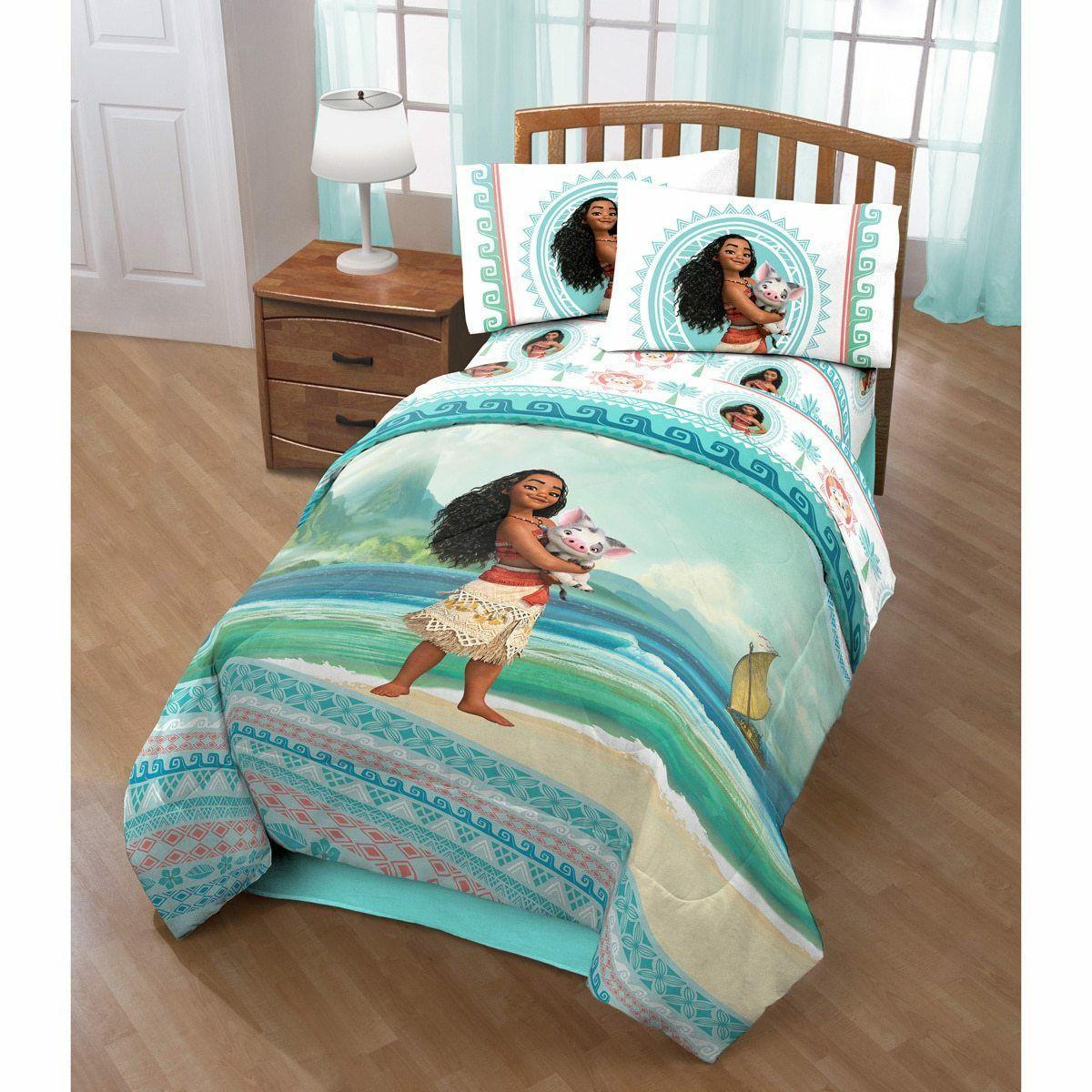 girls twin comforter set moana the wave
