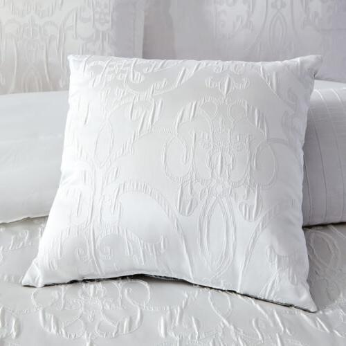 Gloria 5-Piece Textured Jacquard Comforter Curtain Set