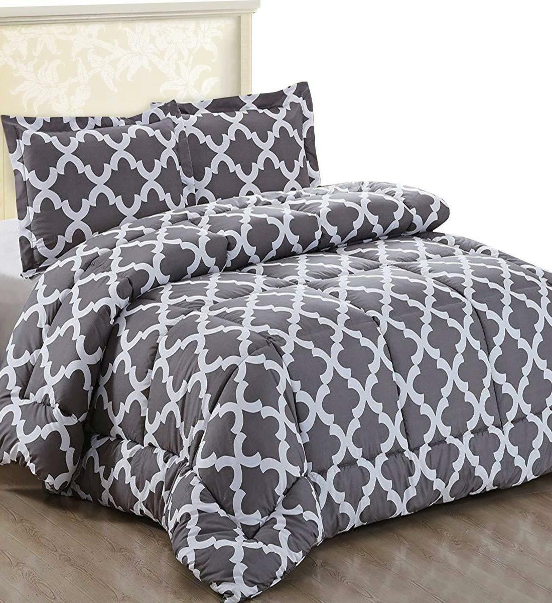 Utopia Bedding Goose Down Alternative Comforter Set with 2 P