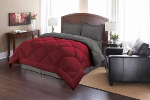 Elegant Comfort Goose Down Alternative Reversible 3pc Comfor