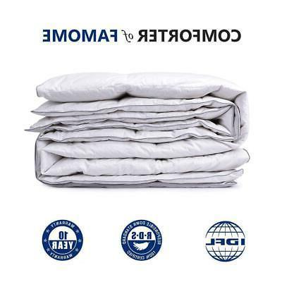 Luxury Premium Goose Down feather Comforter Duvet Cover Inse
