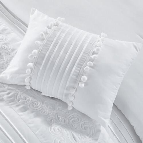Grace Chenille Pleated Comforter Set