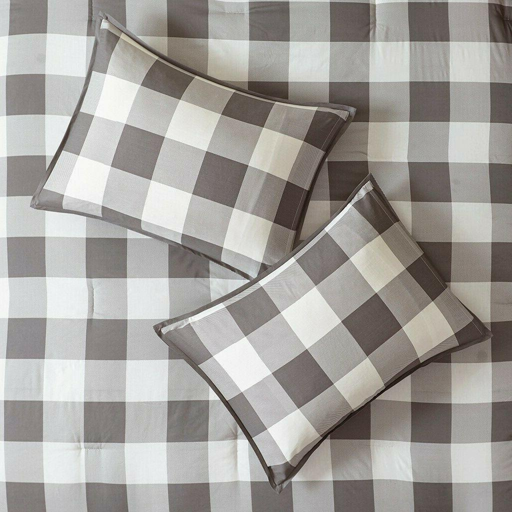 FARMHOUSE COMFORTER SET COUNTRY GRAY CHECK