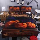 Halloween Witch Pumpkin Light Bedding Set Bed Cover Duvet Co