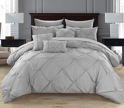 Chic Home Hannah 10 Piece Comforter Set Pinch Pleated Ruffle