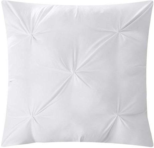 Chic Home 10 Hannah Pinch and pleated complete Bed In Comforter Set White sheet