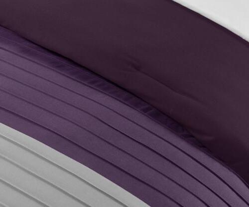 Luxury Striped Pleated Comforter Set