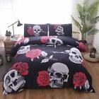 Hot 3Pcs Bedding Set Quilt Cover Pillowcases Queen Size Hall