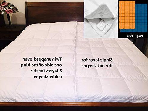 DreamTek Weight Down Comforter California Long Snap
