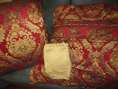 imperial red gold medallion 4pc queen comforter
