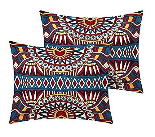 Chic Home 10 Johannesburg Large Scale global printed bed a bag Queen Red