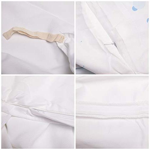 Types Gold Soft Breathable Comforter Ties Zipper Closure Includes 2 Full Size