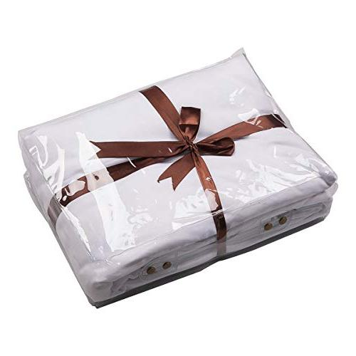 Beauty Duvet Set Various Types of Gold Bedding Soft Breathable Comforter Cover Ties Closure Includes 2 Size