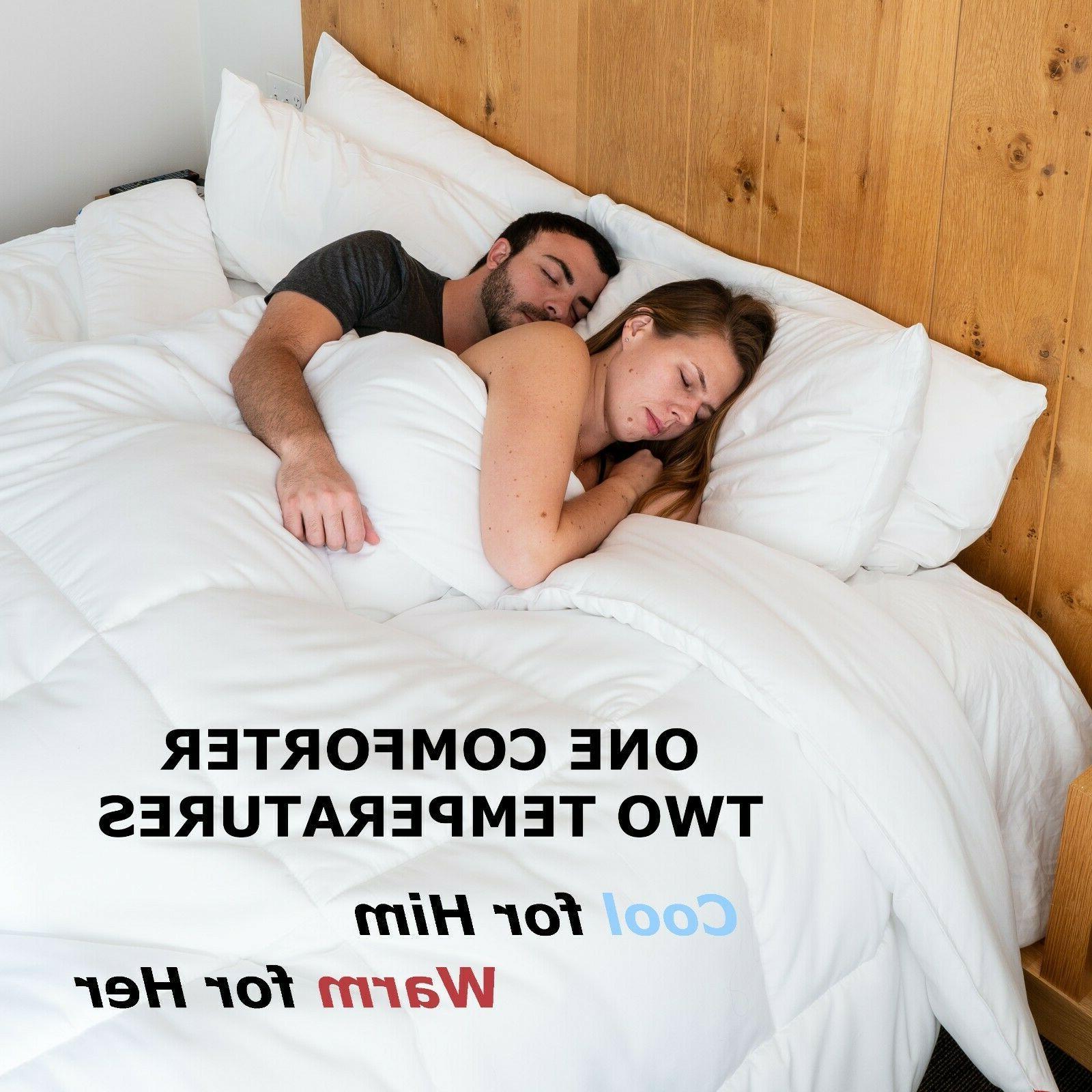 Kömforte Dual Zone Couples Comforter– All Insert for Him Her